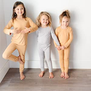 toddlers in pajamas