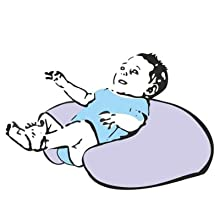 Vizaro - Cojín de Lactancia 100% ALGODÓN Ergonómico, Cómodo y muy Adaptable - Funda LAVABLE - ALTA CALIDAD, hecho en UE, certificado OekoTex sin ...