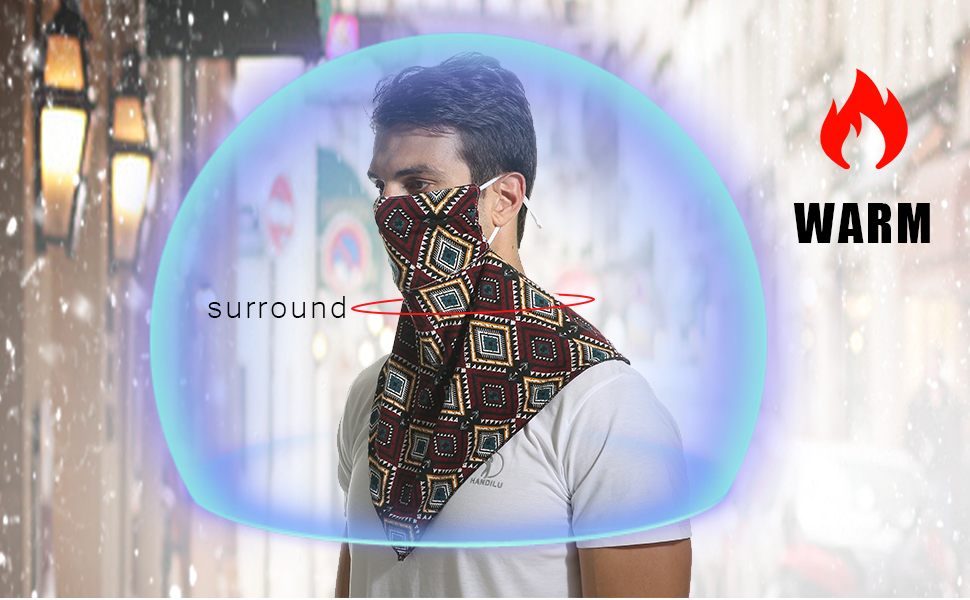 scarf mask for man