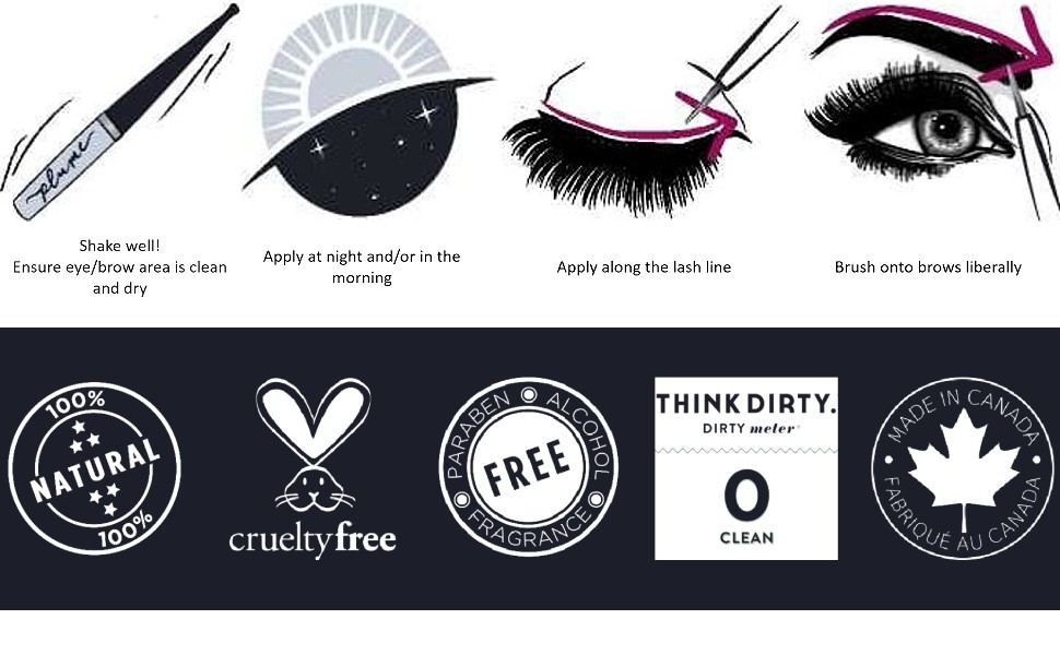 How to Apply and 100% Natural, Cruelty Free, Think Dirty 0 Clean, Made in Canada