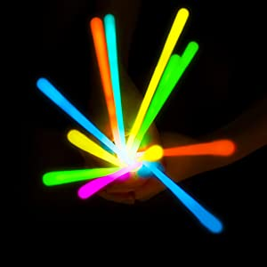 glow sticks party favors supplies in the dark bulk adults kids neon rave accessories necklaces pack