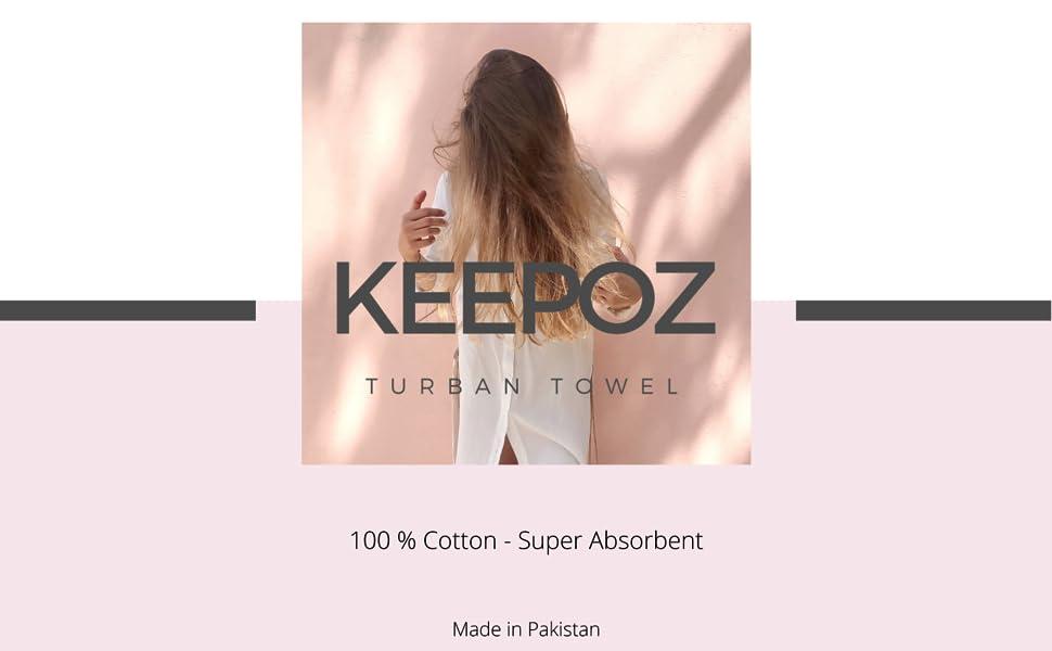 Keepoz Hair Towel Logo Brand
