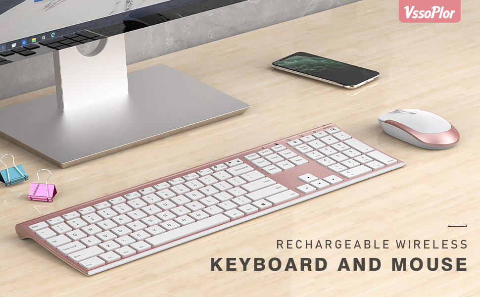Ultra Slim Wireless Keyboard and Mouse Combo