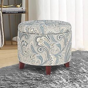 Bedroom round ottoman