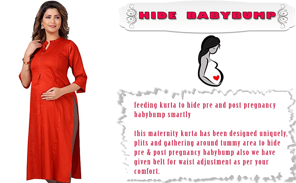 CEE 18 feeding maternity nursing wear kurti with zip, tunic top and bra pre and post pregnancy