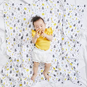 woodland swaddle muslin blanket