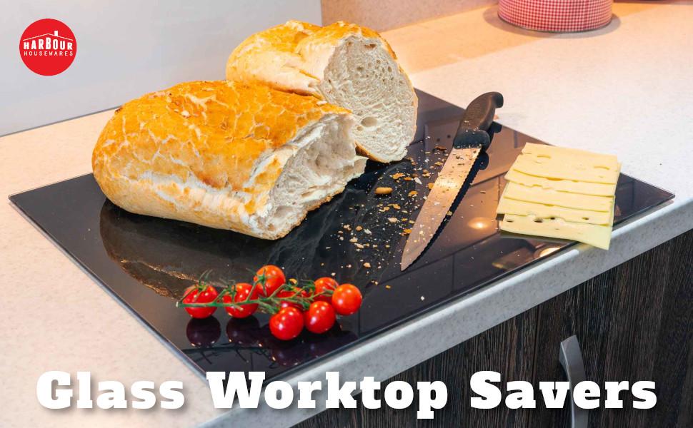 harbour housewares glass worktop savers countertop counter kitchen home homewares rinkit