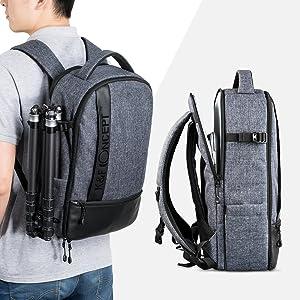 K&F Concept Mochila para Cámara Reflex Impermeable con Tira ...