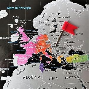 Marocco Cartina Stradale.Exsusia Mappa Del Mondo Da Grattare Con Design Esclusivo Mappamondo Da Grattare Cartina Geografica Italia Da Grattare Il Planisfero Del Viaggiatore Imperdibile Mappa Del Mondo Scratch Map