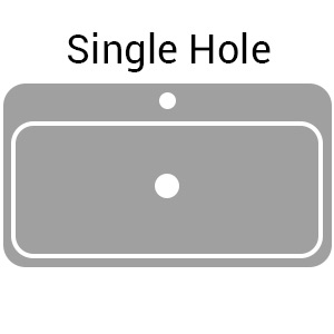 single hole deck mounted