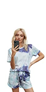 pajamas for women tops and shorts two piece sets