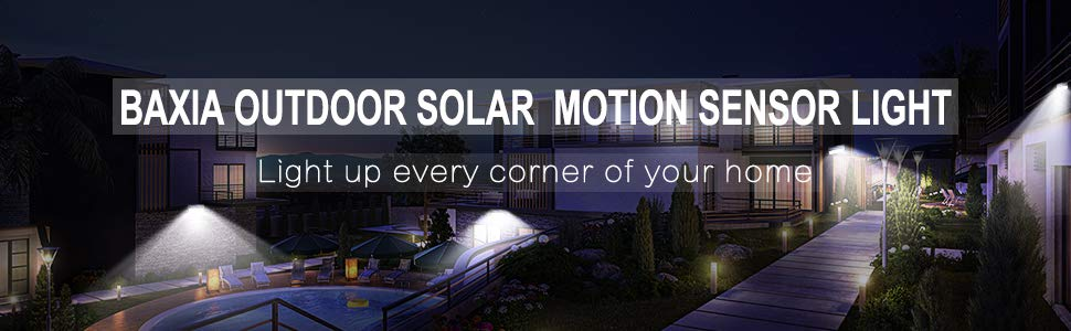 BAXIA OUTDOOR SOLAR MOTION SENSOR LIGHT