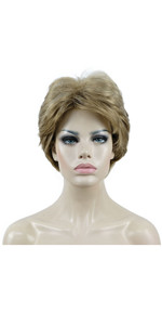 Short Fluffy Natural Wavy Wig Synthetic Hair Women Capless Wigs