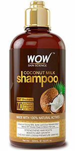 Amazon.com : WOW Coconut Milk Shampoo - DHT Blockers Slow ...