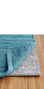 felt and rubber rug pad