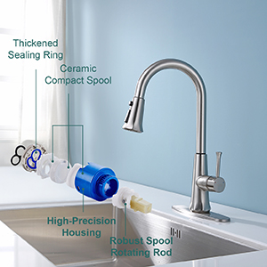 touch on kitchen faucet bronze