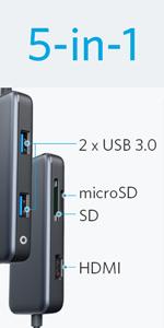 5-in-1 プレミアム USB-Cハブ