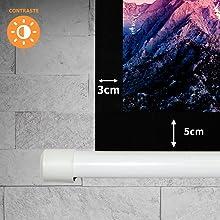 pantalla manual, 82 pulgadas, pantalla para proyector, pantalla de proyeccion manual, pantalla 82