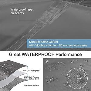 Waterproof outdoor v sofa cover