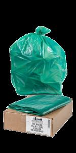 64 Gallon Toter Compatible Green Trash Bags
