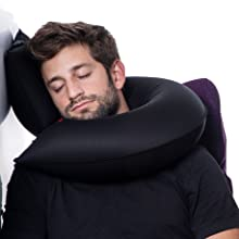 head support neck adjusting supporting wall window 360 modular pillow inflate deflate candy one size