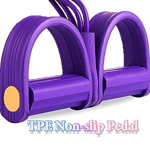 sit up fit training arm elastic bands leg tummy training foot sit-up pedal fit rope 4 elastic bands