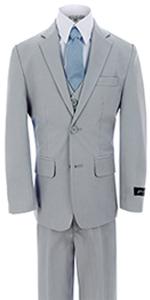 Silver, suit, formal, wedding, boys, kids