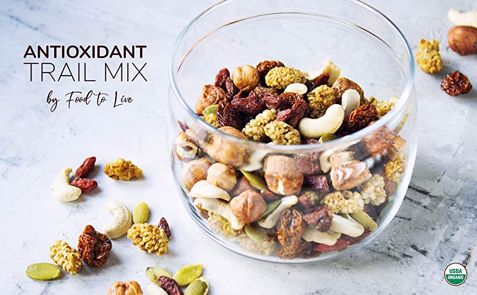 antioxidant trail mix food to live