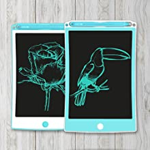 """VeeDee Premium LCD Writing Tablet, Electronic Drawing Doodle Board, 8.5"""" Handwriting Gift for Kids"""