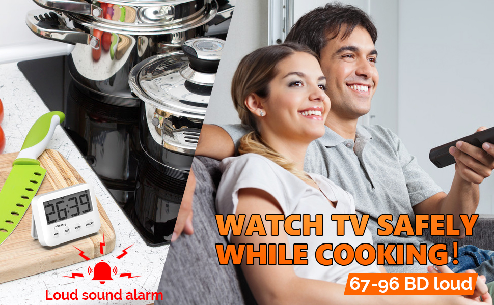 magnetic loud alarm timer for cooking