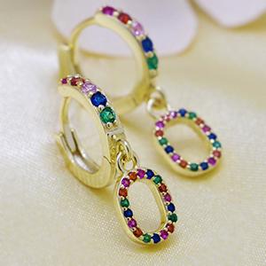 huggie dangle earrings