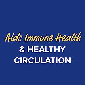Aids immune health & healthy circulation