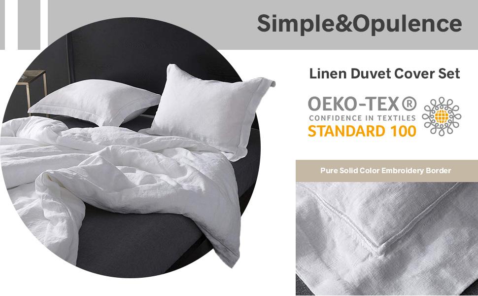 white linen duvet cover set