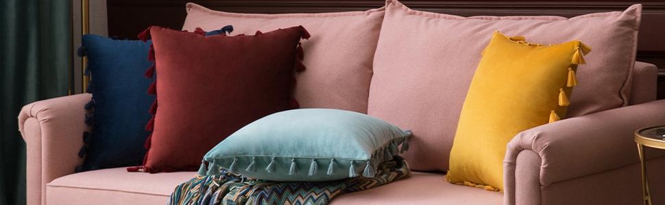 machine washable cleaning washing tips for velvet pillow covers easy care tassels fringe