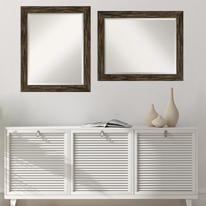 framed vanity bathroom wall mirror