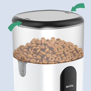 automatic pet feeder with safety locks