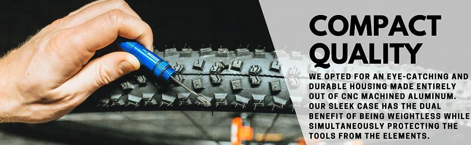 KOM Cycling Tire Repair Tool for Mountain Bikes and Tubeless Setups