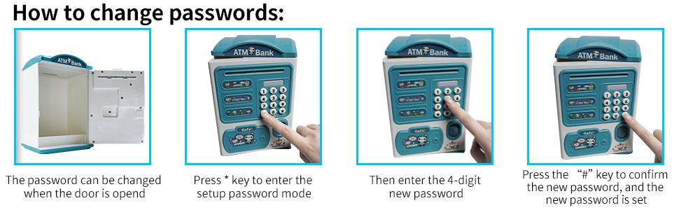 How to change passwords