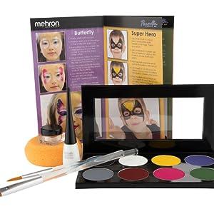 special effects makeup kit beginners zombie fx palette white black make up kids beginner