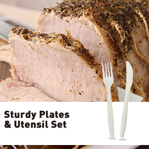 Sturdy Plates and Utensil Set
