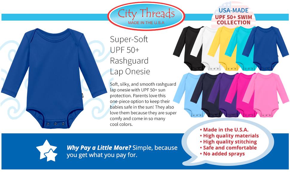 Baby Boys and Girls Solid Rashguard Swimming Tee Shirt Rash Guard SPF Sun Protection for Summer Beach Pool and Play Navy 1218