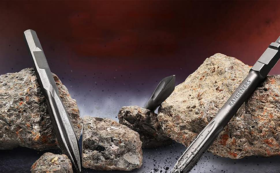 75 x 300 mm muy larga vida /útil juego de 2 RANSENERS/® SDS-max Cincel para baldosas uso universal de acero endurecido