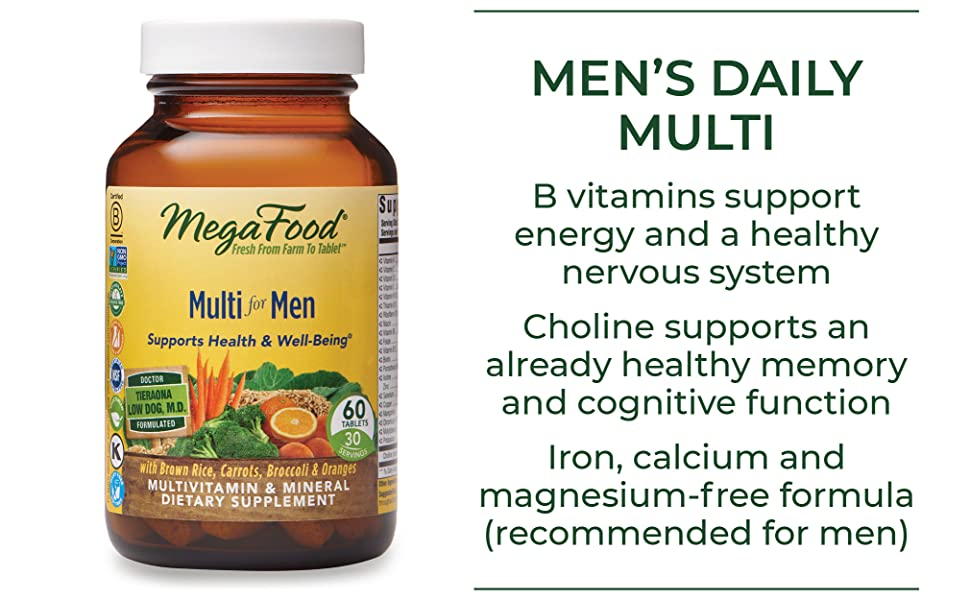MEN'S DAILY MULTI  FoodState B vitamins support energy and a healthy nervous system