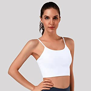 Yoga Working Out Cropped Tank Tops for Women