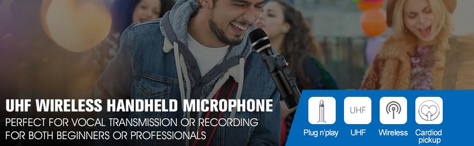 UHF wireless handheld mic
