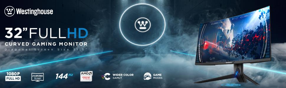Westinghouse-Curved-Gaming-Monitor-32-inch-FHD-144hz-amd-freesync-flicker-free