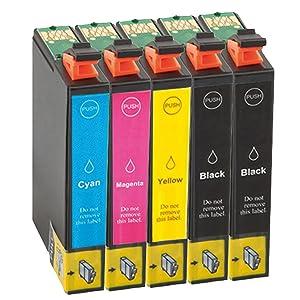 Tito Express Platinumserie 5 Druckerpatrone Xxl Kompatibel Mit Epson T0711 T0712 T0713 T0714 Bürobedarf Schreibwaren