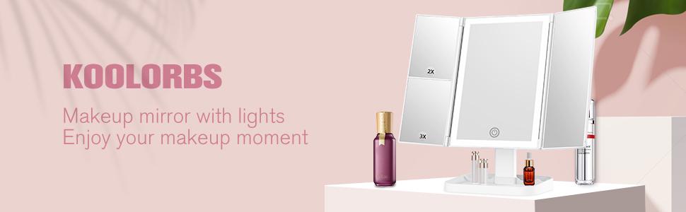 makeup vanity mirror with ights