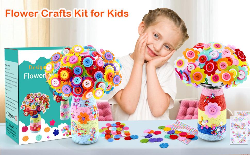 Flower Craft gift for kids