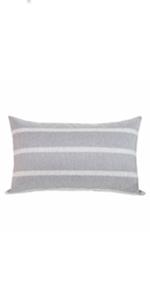 stripe lumbar pillows